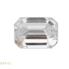 0.97 ct. Emerald Cut 3 Stone Ring, D, SI2 #4