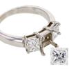 0.90 ct. Princess Cut 3 Stone Ring #4