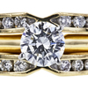 0.54 ct. Round Cut Bridal Set Ring, G, VS2 #4