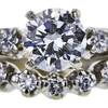 0.94 ct. Round Cut Bridal Set Ring, G, SI1 #4