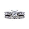 0.79 ct. Princess Cut Bridal Set Ring, G, VS1 #3