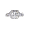 0.95 ct. Radiant Cut 3 Stone Ring, G, SI1 #3