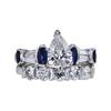 1.08 ct. Pear Cut Bridal Set Ring, G, SI2 #2