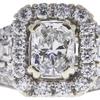0.98 ct. Radiant Cut Bridal Set Ring, F, SI1 #4