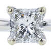 1.03 ct. Princess Cut Bridal Set Ring, G, SI2 #1