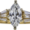 1.05 ct. Marquise Cut Bridal Set Ring, H, SI1 #2