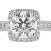 1.59 ct. Round Cut Halo Ring, G, SI2 #4