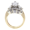 1.51 ct. Marquise Cut Central Cluster Ring, D, SI1 #4