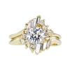 0.91 ct. Round Cut Bridal Set Ring #3