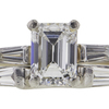 1.01 ct. Emerald Cut Bridal Set Ring, D, VVS2 #4