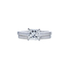 1.21 ct. Princess Cut Bridal Set Ring, G, SI2 #3