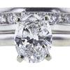 1.33 ct. Oval Cut Bridal Set Ring, G, I1 #4
