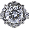 0.72 ct. Round Cut Bridal Set Ring, F, VVS2 #4