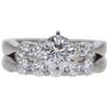 0.9 ct. Round Cut Bridal Set Ring, F, VS2 #2