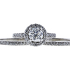 1.00 ct. Round Cut Bridal Set Ring, E, I1 #3