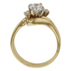 0.71 ct. Round Cut Bridal Set Ring, E, SI1 #4