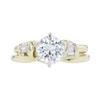 1.07 ct. Round Cut Bridal Set Ring, G, SI2 #4