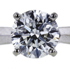 1.00 ct. Round Cut Bridal Set Ring, H, I1 #1