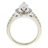 1.04 ct. Marquise Cut Halo Ring, F, SI2 #3