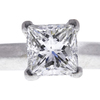 1.56 ct. Princess Cut Bridal Set Ring, F, VS2 #4