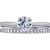 0.57 ct. Round Cut Bridal Set Harry Winston Ring, F, VVS2 #1