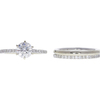 1.2 ct. Round Cut Bridal Set Ring, G, I2 #3