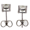 Art Deco Princess Cut Stud Earrings #1