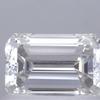 0.73 ct. Emerald Cut 3 Stone Ring, F, VVS1 #1