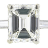 1.83 ct. Emerald Cut Bridal Set Ring, H-I, VS1 #1