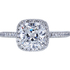 2.17 ct. Cushion Cut Halo Ring, E, SI2 #2