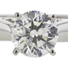 1.12 ct. Round Cut Solitaire Ring, G-H, I1 #1