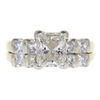 1.5 ct. Princess Cut Bridal Set Ring, I, SI2 #2
