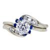 0.72 ct. Round Cut Bridal Set Ring, E, SI1 #3