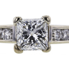 1.05 ct. Princess Cut Solitaire Ring #3