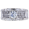 0.73 ct. Round Cut Bridal Set Ring, K, SI2 #3