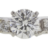 0.76 ct. Round Modified Brilliant Cut Bridal Set Ring, I, SI1 #4