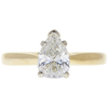 0.82 ct. Pear Cut Solitaire Ring, H, SI2 #3