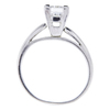 1.00 ct. Radiant Cut Solitaire Ring, F, SI1 #1