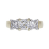 1.03 ct. Princess Cut 3 Stone Ring, I, VS2 #3