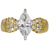 0.99 ct. Marquise Cut Solitaire Ring, F, VS2 #3
