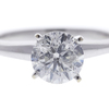 1.16 ct. Round Cut Solitaire Ring, H, I1 #1