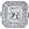 1.01 ct. Princess Cut Halo Ring, G, SI2 #4