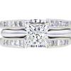 1.04 ct. Princess Cut Bridal Set Ring #1