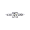 0.91 ct. Round Cut Bridal Set Ring, K, VS1 #3
