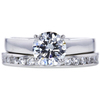 1.05 ct. Round Cut Bridal Set Ring, H, SI2 #3