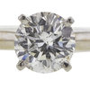0.96 ct. Round Cut Bridal Set Ring, H, I1 #4