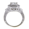 2.00 ct. Princess Cut Halo Ring, G, I1 #2