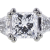 1.14 ct. Princess Cut Bridal Set Ring, E, VVS2 #4