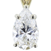 1.00 ct. Pear Cut Pendant Necklace, H, VS1 #4