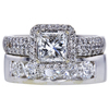 Art Deco GIA 0.80 ct. Princess Cut Bridal Set Ring, G, VVS1 #3